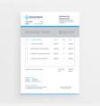 minimal style invoice template design vector image