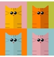 pop art stylization colorful cats vector image