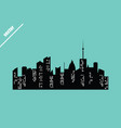 set of cities vector image