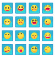 smile icon blue app vector image