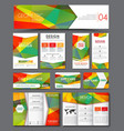 Templates polygonal corporate identity in the set vector image