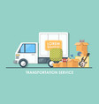 truck for transportation flat vector image