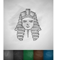 Tutankhamun icon vector image
