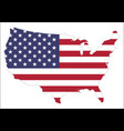 united states of america map with waving flag vector image