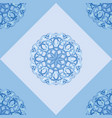seamless pattern with blue ornamental decor vector image