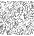 graphic leaves pattern vector image