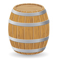 wooden barrel 01 vector image
