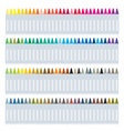 Set of Wax Crayons on White Background vector image