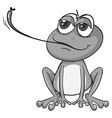 Frog eating vector image vector image