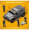 Armoured 02 Vehicle Isometric vector image