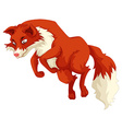 Red fox jumping up vector image vector image