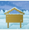 Winter landscape sign vector image vector image