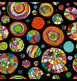 abstract spirals and circles seamless pattern for vector image