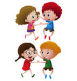 boys and girls dancing vector image