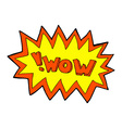comic cartoon wow explosion vector image