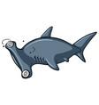 hammerhead shark with dizzy face vector image