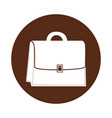 round icon suitcase cartoon vector image