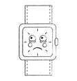 sad watch kawaii icon image vector image