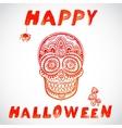 vintage Halloween skull vector image