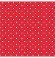 Red background seamless pattern with polka dots vector image vector image
