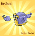 mr snail with principal vector image