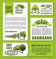 save earth and planet nature ecology design vector image