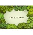 Horizontal frame of the cartoon deciduous trees vector image