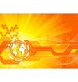 vector bright orange background vector image vector image