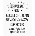 Line simple font Universal alphabet with small and vector image