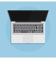 Laptop open in flat style top view concept vector image