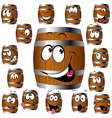 barrel cartoon vector image