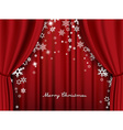 Christmas greeting card with red heavy theater vector image