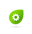 eco leaves technology logo icon design template vector image
