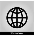 globe icon on grey background vector image