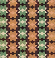 retro geometric flowers seamless pattern vector image