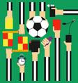 soccer referee design flat vector image