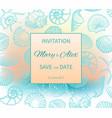 wedding on beach invitation design vector image