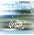 winter design with holiday lights golden stars vector image