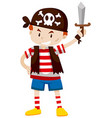 Little boy dressed up as pirate vector image
