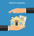 property insurance concept vector image vector image