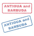 antigua and barbuda textile stamps vector image