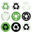 recycle reuse reduce symbols vector image vector image