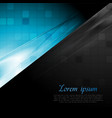 Blue and black contrast abstract background vector image vector image