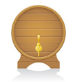 wooden barrel 03 vector image