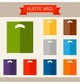 Plastic bags colored templates for your design in vector image vector image