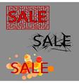 sale set of three tag vector image vector image