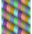 3d Striped Seamless Pattern vector image