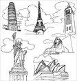 world landmark vector image