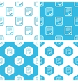 Approved document patterns set vector image