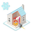 Energy Chain 01 Building Isometric vector image